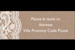 Dentelle de jute Étiquettes D'Adresse - gabarit prédéfini. <br/>Utilisez notre logiciel Avery Design & Print Online pour personnaliser facilement la conception.