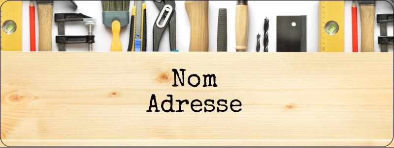 """⅔"""" x 1¾"""" Étiquettes D'Adresse - Menuiserie"""