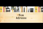 Menuiserie  Étiquettes D'Adresse - gabarit prédéfini. <br/>Utilisez notre logiciel Avery Design & Print Online pour personnaliser facilement la conception.
