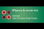 Partie de poker Étiquettes D'Adresse - gabarit prédéfini. <br/>Utilisez notre logiciel Avery Design & Print Online pour personnaliser facilement la conception.