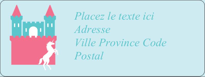 """⅔"""" x 1¾"""" Étiquettes D'Adresse - Château"""