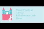 Château Étiquettes D'Adresse - gabarit prédéfini. <br/>Utilisez notre logiciel Avery Design & Print Online pour personnaliser facilement la conception.