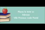 Enseignement scolaire Étiquettes D'Adresse - gabarit prédéfini. <br/>Utilisez notre logiciel Avery Design & Print Online pour personnaliser facilement la conception.