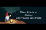 Gnome en camping Étiquettes D'Adresse - gabarit prédéfini. <br/>Utilisez notre logiciel Avery Design & Print Online pour personnaliser facilement la conception.