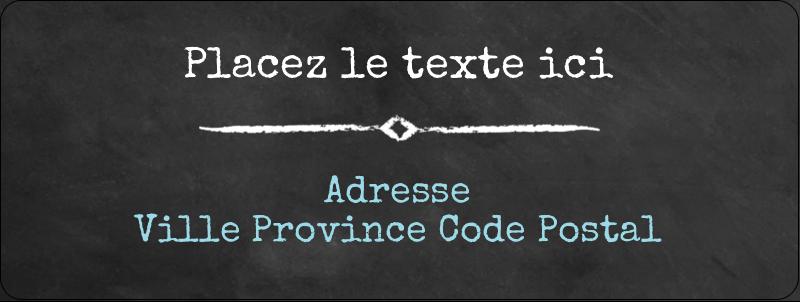 """⅔"""" x 1¾"""" Étiquettes D'Adresse - Diplôme et craie"""