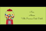 Boules de gomme Étiquettes D'Adresse - gabarit prédéfini. <br/>Utilisez notre logiciel Avery Design & Print Online pour personnaliser facilement la conception.
