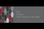Hexagone rouge Étiquettes D'Adresse - gabarit prédéfini. <br/>Utilisez notre logiciel Avery Design & Print Online pour personnaliser facilement la conception.