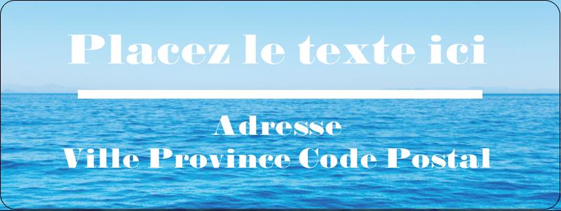 """⅔"""" x 1¾"""" Étiquettes D'Adresse - Ciel-océan"""