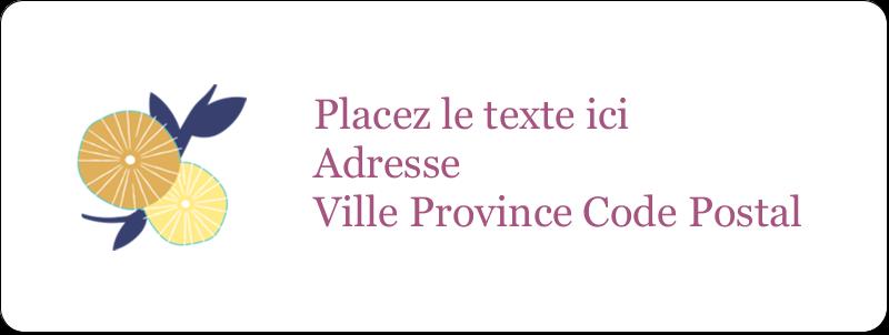 """⅔"""" x 1¾"""" Étiquettes D'Adresse - Impression pissenlit"""