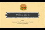 Hamburger Carte d'affaire - gabarit prédéfini. <br/>Utilisez notre logiciel Avery Design & Print Online pour personnaliser facilement la conception.