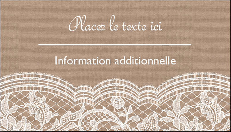 """2"""" x 3½"""" Carte d'affaire - Dentelle de jute"""