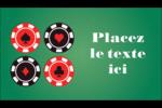 Partie de poker Carte d'affaire - gabarit prédéfini. <br/>Utilisez notre logiciel Avery Design & Print Online pour personnaliser facilement la conception.
