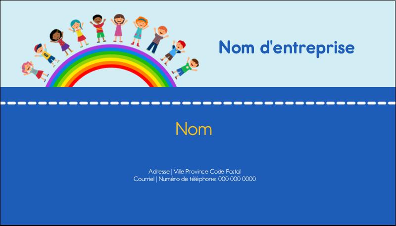 """2"""" x 3½"""" Carte d'affaire - Éducation des enfants"""