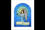 Ange des Fêtes en vitrail Cartes Et Articles D'Artisanat Imprimables - gabarit prédéfini. <br/>Utilisez notre logiciel Avery Design & Print Online pour personnaliser facilement la conception.