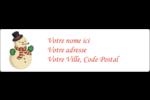 Bonhomme de neige d'époque Étiquettes D'Adresse - gabarit prédéfini. <br/>Utilisez notre logiciel Avery Design & Print Online pour personnaliser facilement la conception.