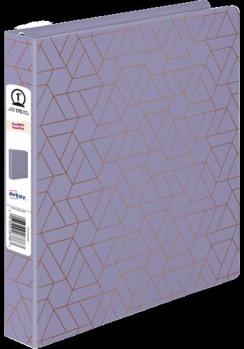 Avery<SUP>®</SUP> Reliure de présentation Durable, motifs lavande métallique - Avery<sup>®</sup> Reliure de présentation Durable