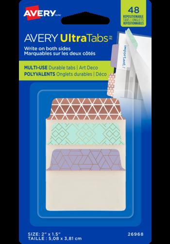 Avery UltraTabs<sup>MC</sup> Polyvalents 2po x 1½po, Métallique Art Deco - Avery UltraTabs<sup>MC</sup> Polyvalents