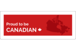 Show off your Canadian pride with an image of Canada's massive landmass.