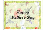 Personalize Mother's Day decorations with colourful momma and baby butterflies.