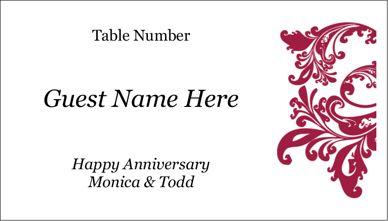 "2"" x 3½"" Business Card - Anniversary"