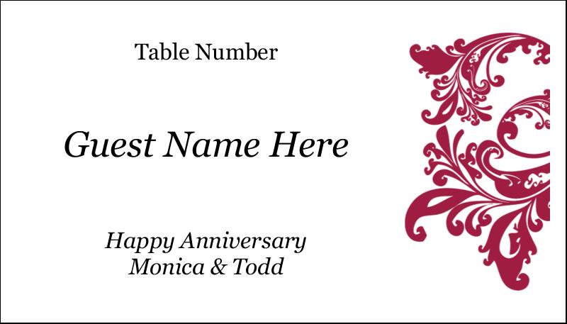 "2"" x 3½"" Business Card - Anniversary"