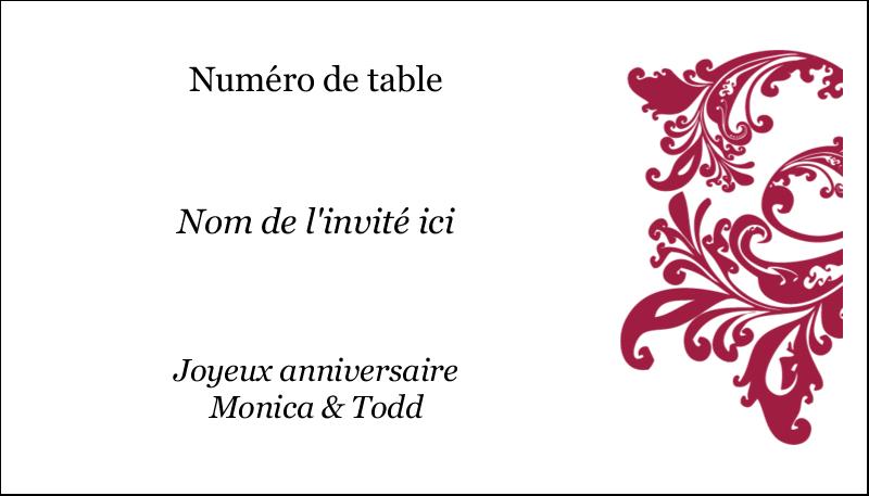 """2"""" x 3½"""" Cartes d'affaires - Anniversaire"""