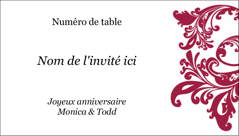 "2"" x 3½"" Carte d'affaire - Anniversaire"