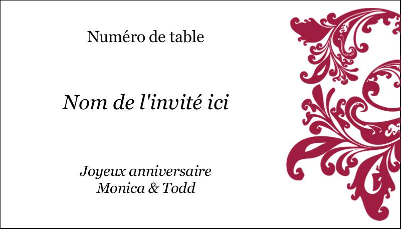 """2"""" x 3½"""" Carte d'affaire - Anniversaire"""