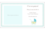 Poussette pour bébé avec tons bleus  Carte d'affaire - gabarit prédéfini. <br/>Utilisez notre logiciel Avery Design & Print Online pour personnaliser facilement la conception.
