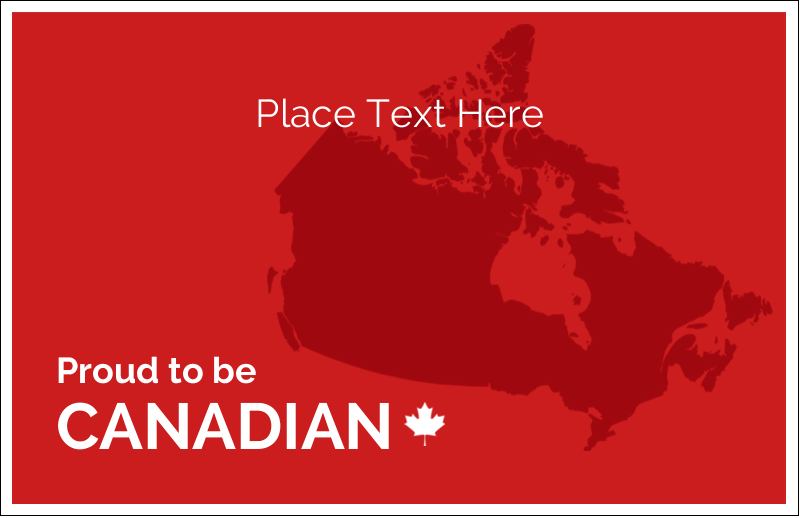 "5½"" x 8½"" Greeting Card - Proud To Be Canadian"