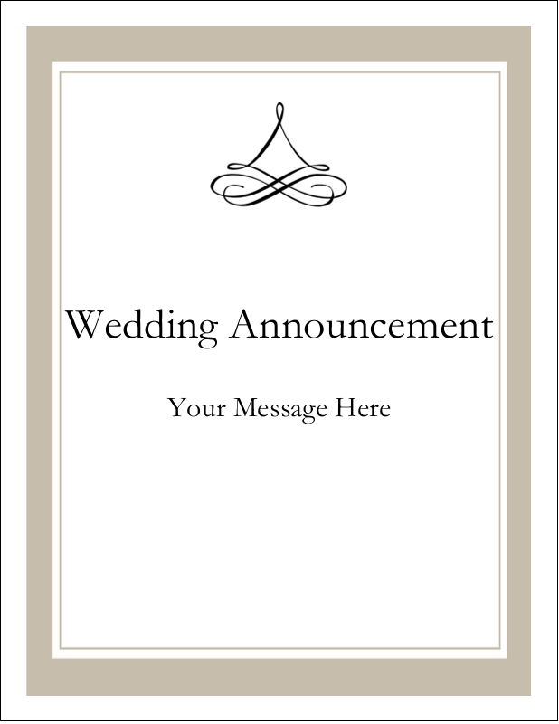 "4¼"" x 5½"" Postcard - Simple Wedding"