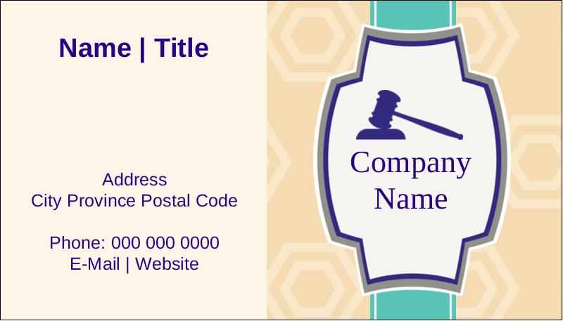 "2"" x 3½"" Business Card - Gavel Purple"