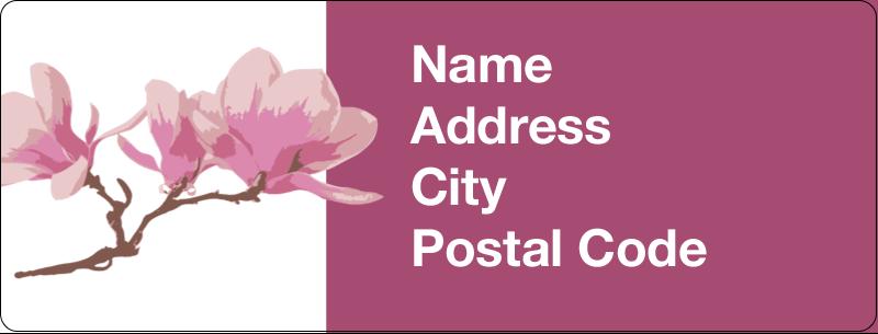"½"" x 1¾"" Address Label - Spring Magnolia"