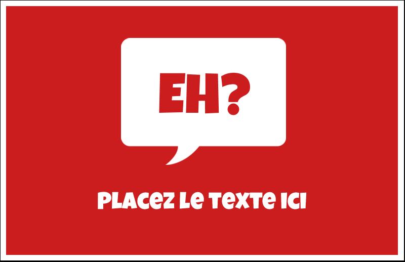 """5½"""" x 8½"""" Cartes de souhaits pliées en deux - Parlez-vous canadien eh? (Rouge)"""