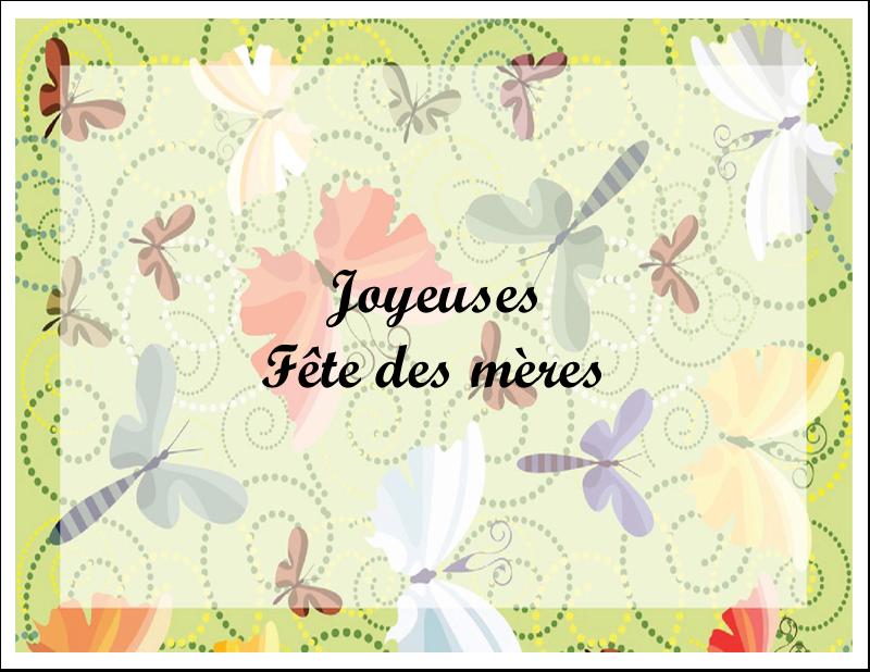 """4¼"""" x 5½"""" Cartes de notes - Deux papillons"""