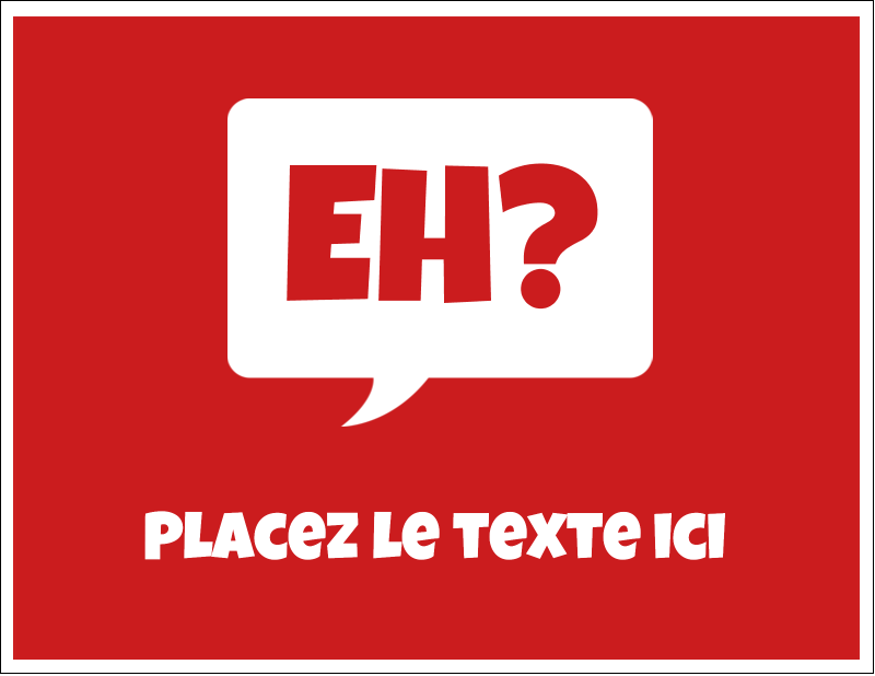 """4¼"""" x 5½"""" Cartes de notes - Parlez-vous canadien eh? (Rouge)"""