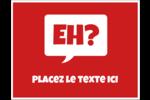 Parlez-vous canadien eh? (Rouge) Cartes de notes - gabarit prédéfini. <br/>Utilisez notre logiciel Avery Design & Print Online pour personnaliser facilement la conception.