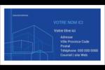 Plans de construction Cartes d'affaires - gabarit prédéfini. <br/>Utilisez notre logiciel Avery Design & Print Online pour personnaliser facilement la conception.