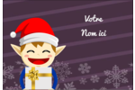 Petit Lutin de Noël Badges - gabarit prédéfini. <br/>Utilisez notre logiciel Avery Design & Print Online pour personnaliser facilement la conception.