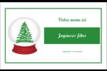 Boule à neige arbre de Noël Badges - gabarit prédéfini. <br/>Utilisez notre logiciel Avery Design & Print Online pour personnaliser facilement la conception.