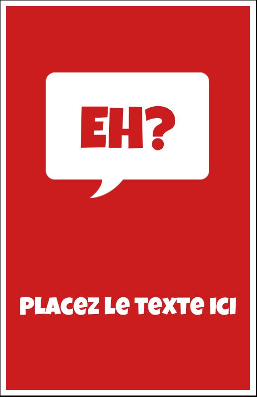 """8½"""" x 5"""" Cartes Et Articles D'Artisanat Imprimables - Parlez-vous canadien eh? (Rouge)"""