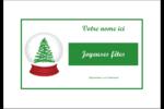 Boule à neige arbre de Noël Étiquettes badges autocollants - gabarit prédéfini. <br/>Utilisez notre logiciel Avery Design & Print Online pour personnaliser facilement la conception.