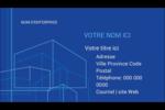 Plans de construction Carte d'affaire - gabarit prédéfini. <br/>Utilisez notre logiciel Avery Design & Print Online pour personnaliser facilement la conception.