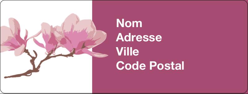 """½"""" x 1¾"""" Étiquettes D'Adresse - Magnolia printanier"""