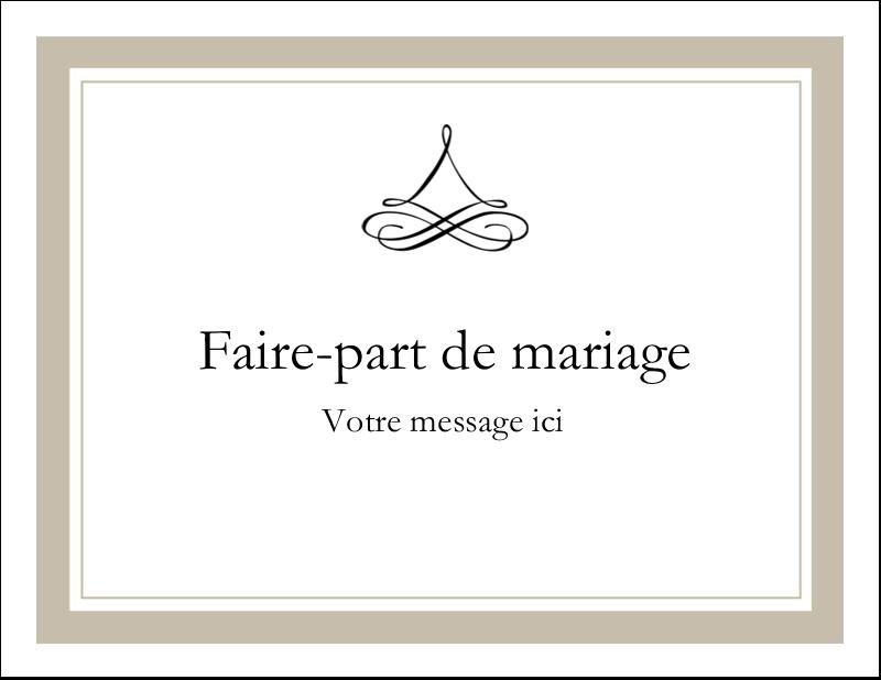 "5½"" x 4¼"" Carte Postale - Mariage simple"