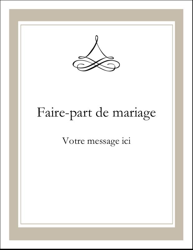 "4¼"" X 5½"" Carte Postale - Mariage simple"