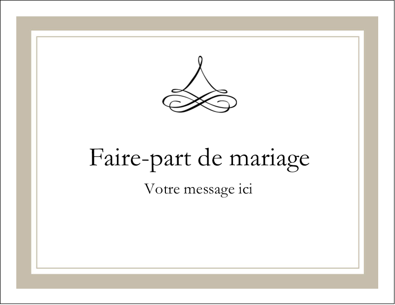 "4¼"" X 5½"" Carte Postale - Mariage simple"