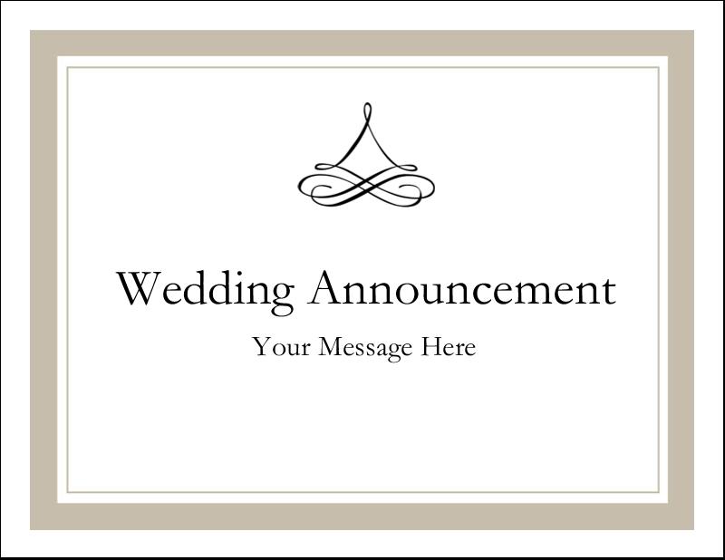 "5½"" x 4¼"" Postcard - Simple Wedding"