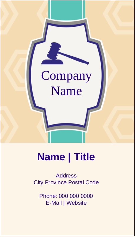 "3½"" x 2"" Business Card - Gavel Purple"