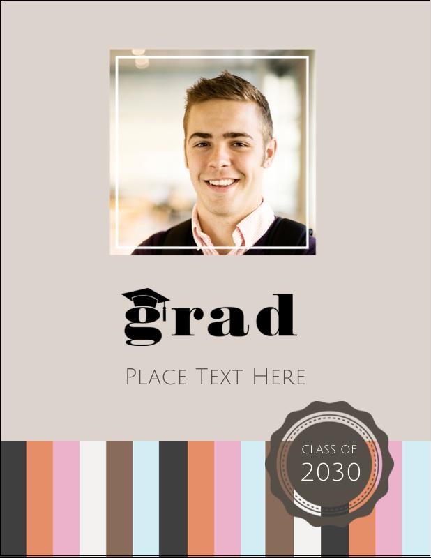 """5½"""" x 4¼"""" Postcard - Grad Cap"""